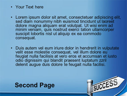 Way To Success PowerPoint Template, Slide 2, 09753, Consulting — PoweredTemplate.com
