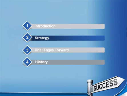 Way To Success PowerPoint Template, Slide 3, 09753, Consulting — PoweredTemplate.com