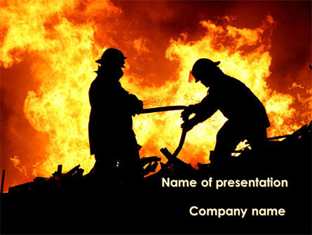Firefighters PowerPoint Template, 09755, Military — PoweredTemplate.com