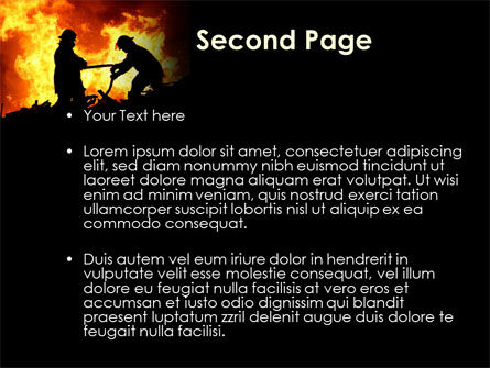 Firefighters PowerPoint Template, Slide 2, 09755, Military — PoweredTemplate.com