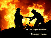 Military: Firefighters PowerPoint Template #09755