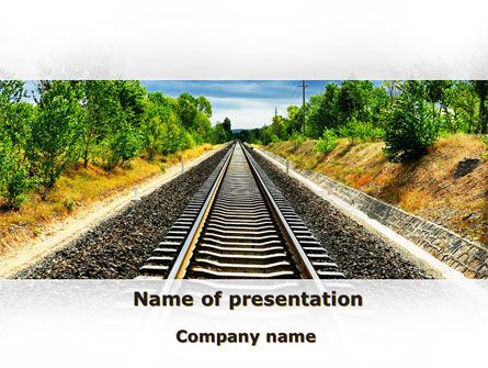 Cars and Transportation: Railway To The Beautiful Land PowerPoint Template #09756