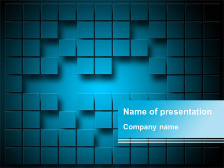Abstract Surface Of The Squares With Spaces PowerPoint Template