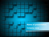 Abstract/Textures: Modèle PowerPoint de surface abstraite des carrés avec des espaces #09758