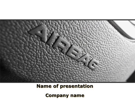 Cars and Transportation: Airbag PowerPoint Template #09760