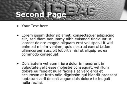 Airbag PowerPoint Template, Slide 2, 09760, Cars and Transportation — PoweredTemplate.com