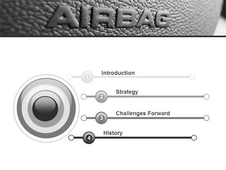 Airbag PowerPoint Template, Slide 3, 09760, Cars and Transportation — PoweredTemplate.com