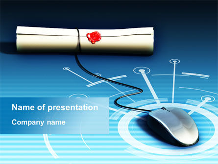 Computers: Plantilla de PowerPoint - comunicación confidencial vía internet #09761