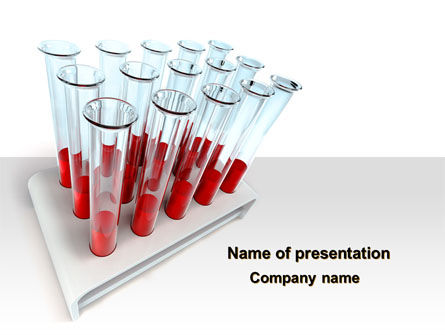 Blood Test Samples PowerPoint Template, 09762, Medical — PoweredTemplate.com