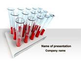 Medical: Modelo do PowerPoint - amostras de sangue #09762