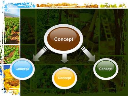 Farm Labor PowerPoint Template, Slide 4, 09763, Agriculture — PoweredTemplate.com
