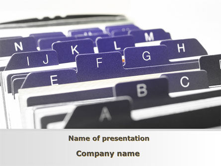 Alphabetical Registry PowerPoint Template, 09764, Consulting — PoweredTemplate.com