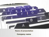 Consulting: Modelo do PowerPoint - registro alfabético #09764