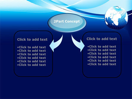 Abstract Blue With Globe PowerPoint Template, Slide 4, 09765, Global — PoweredTemplate.com