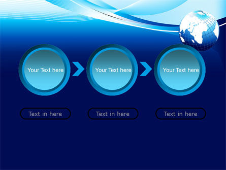 Abstract Blue With Globe PowerPoint Template Slide 5