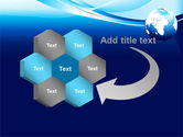 Abstract Blue With Globe PowerPoint Template#11