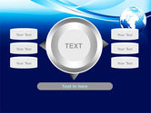 Abstract Blue With Globe PowerPoint Template#12