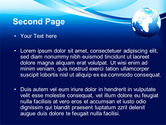 Abstract Blue With Globe PowerPoint Template#2