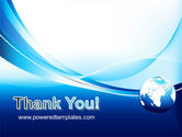 Abstract Blue With Globe PowerPoint Template#20
