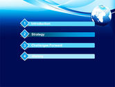 Abstract Blue With Globe PowerPoint Template#3