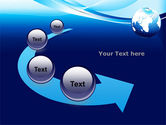 Abstract Blue With Globe PowerPoint Template#6
