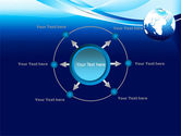 Abstract Blue With Globe PowerPoint Template#7