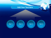 Abstract Blue With Globe PowerPoint Template#8