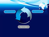 Abstract Blue With Globe PowerPoint Template#9