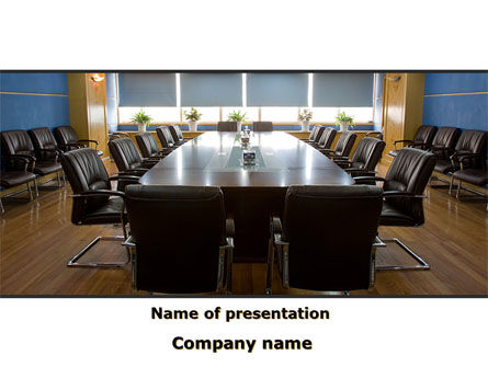 Corporate Conference Hall PowerPoint Template, 09766, Business — PoweredTemplate.com