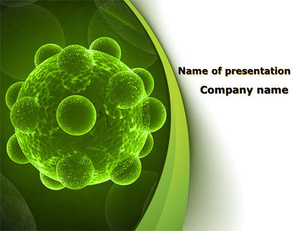 Virus Under An Electron Microscope PowerPoint Template, 09767, Technology and Science — PoweredTemplate.com