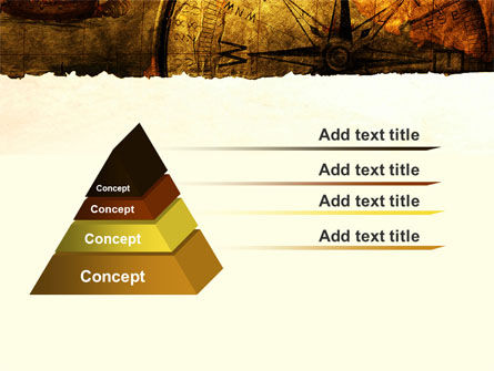Ancient Map With Compass PowerPoint Template Slide 12