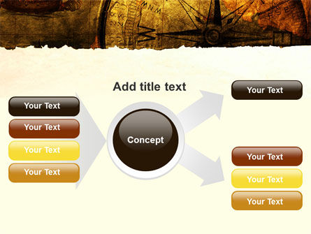 Ancient Map With Compass PowerPoint Template Slide 14
