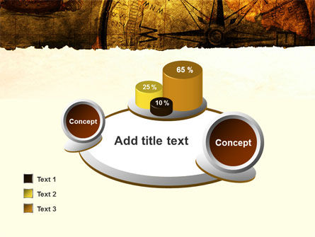 Ancient Map With Compass PowerPoint Template Slide 16