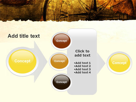 Ancient Map With Compass PowerPoint Template Slide 17