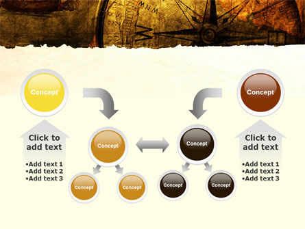 Ancient Map With Compass PowerPoint Template Slide 19