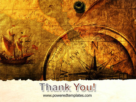 Ancient Map With Compass PowerPoint Template Slide 20
