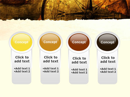 Ancient Map With Compass PowerPoint Template Slide 5