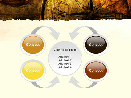 Ancient Map With Compass PowerPoint Template Slide 6