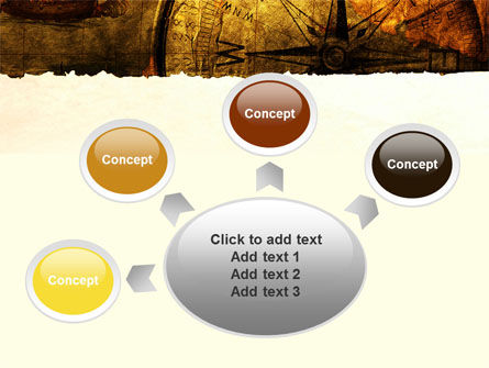 Ancient Map With Compass PowerPoint Template Slide 7