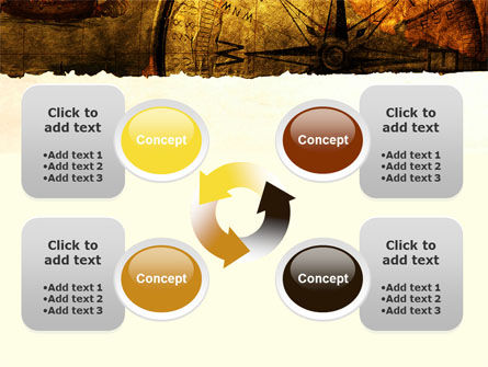 Ancient Map With Compass PowerPoint Template Slide 9