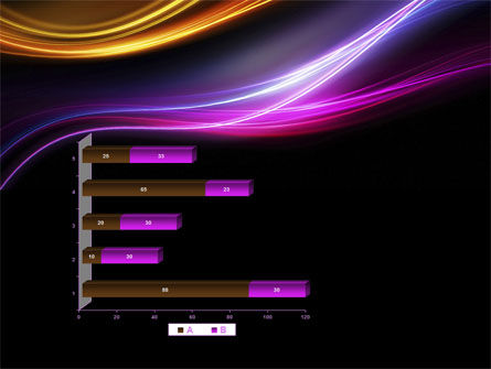 Abstract Neon Waves Compass PowerPoint Template Slide 11