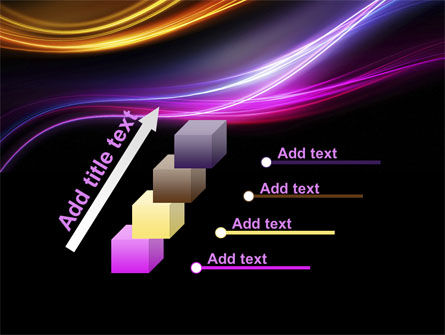 Abstract Neon Waves Compass PowerPoint Template Slide 14