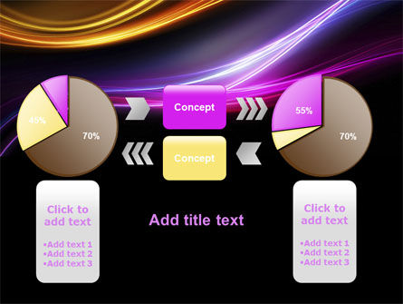 Abstract Neon Waves Compass PowerPoint Template Slide 16