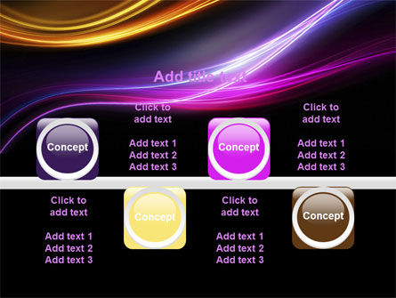 Abstract Neon Waves Compass PowerPoint Template Slide 18