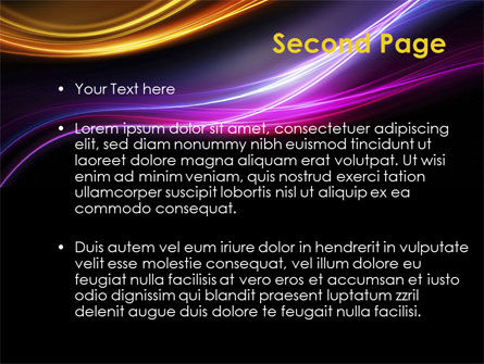 Abstract Neon Waves Compass PowerPoint Template Slide 2