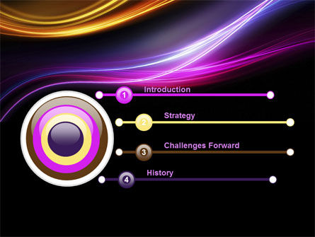 Abstract Neon Waves Compass PowerPoint Template Slide 3