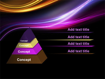 Abstract Neon Waves Compass PowerPoint Template Slide 4