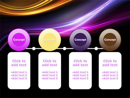 Abstract Neon Waves Compass PowerPoint Template Slide 5