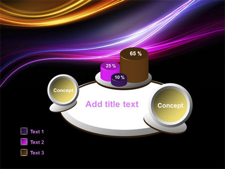 Abstract Neon Waves Compass PowerPoint Template Slide 6