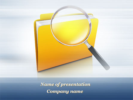 Consulting: Searching Documents PowerPoint Template #09771